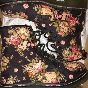 Shoes - Floral Print Doc Martens